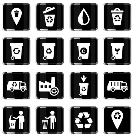 wheelie bin: Garbage simply symbol for web icons Illustration