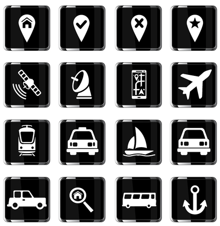 side dish: Navigation simply vector icon set