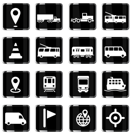 Navigation simply vector icon set