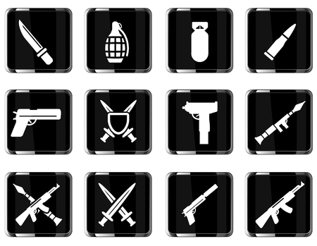 frag: Weapon simply symbol for web icons Illustration