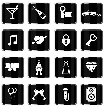 Wedding simply symbol for web icons  イラスト・ベクター素材
