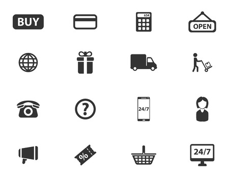 shopping questions: E-commerce simply symbol for web icons