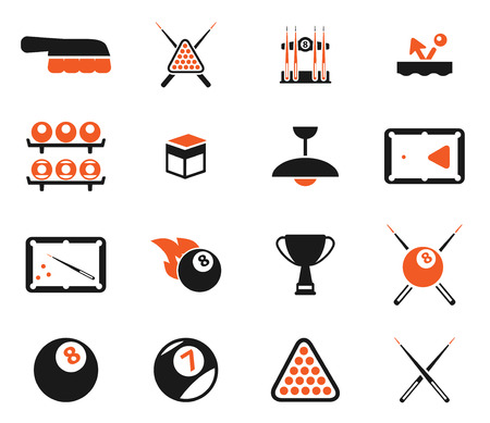 pool cues: Billiards  simply symbol for web icons Illustration