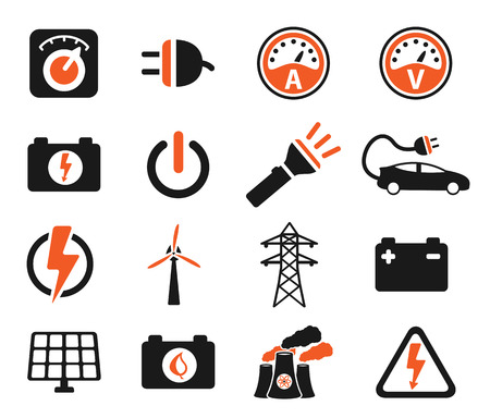 selector: Electricity simply symbols for web icons