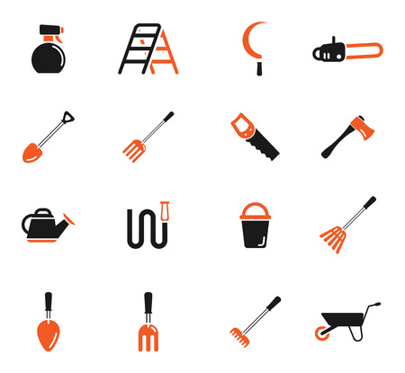 leveling: Garden tools simply symbol for web icons Illustration