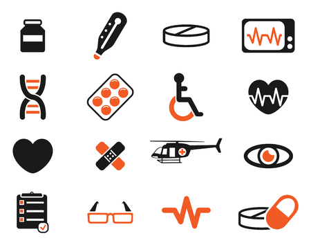 cardiograph: Medical simply vector icon set