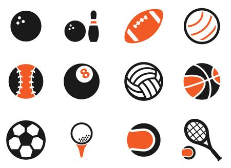 jugador de futbol: Bolas del deporte simplemente s�mbolo de iconos de la web Vectores