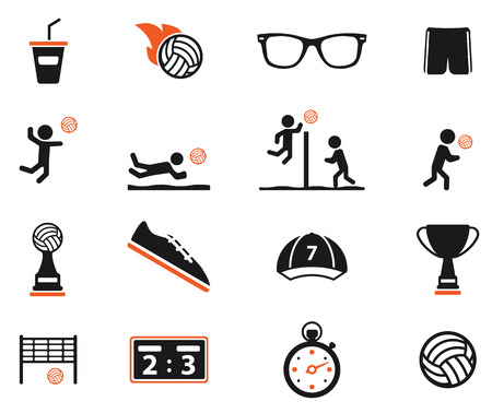 hits: Volleyball simply symbol for web icons Illustration