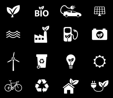 alternative: Alternative energy simple vector icons Illustration
