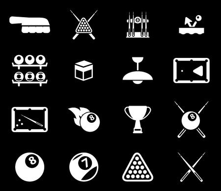 cues: Billiards simply symbols for web icons Illustration