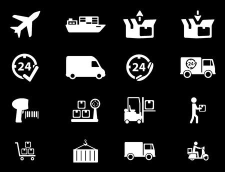 motor de carro: Entrega simplemente s�mbolo de iconos de la web Vectores