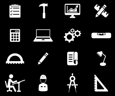 engineering drawing: Engineering simply symbol for web icons Illustration