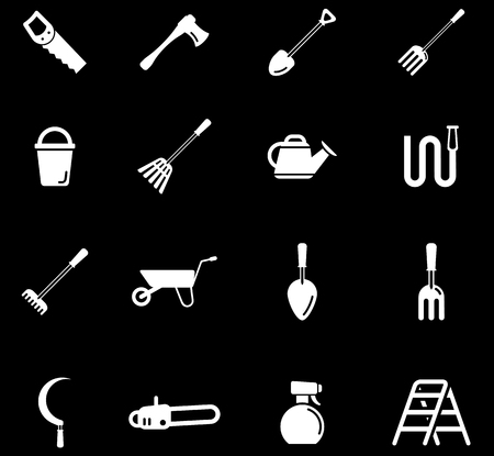 pulverizer: Garden tools simply symbol for web icons Illustration