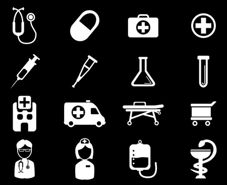 catheters: Medical simply vector icon set