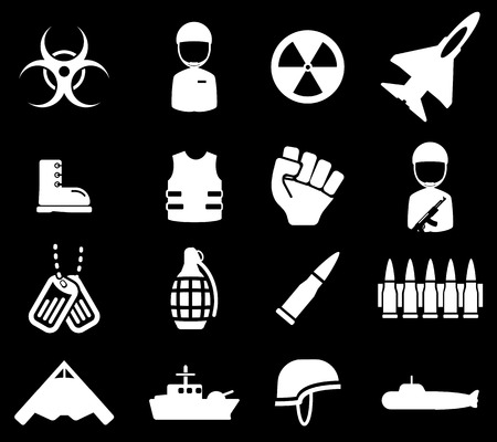 army boots: Military simply vector icon set