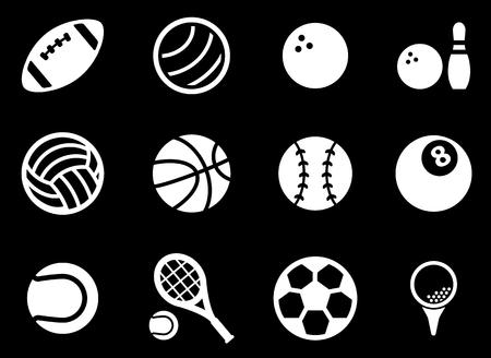 balones deportivos: Bolas del deporte simplemente símbolo de iconos de la web Vectores