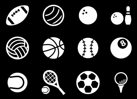 sport training: Sport balls simply symbol for web icons Illustration
