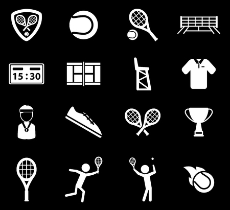 Tennis simply symbol for web icons