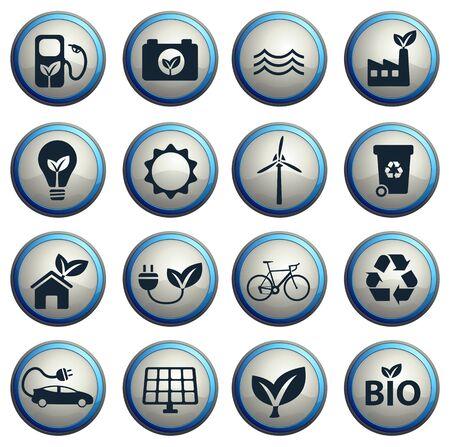 alternative energy: Alternative energy simple vector icons Illustration