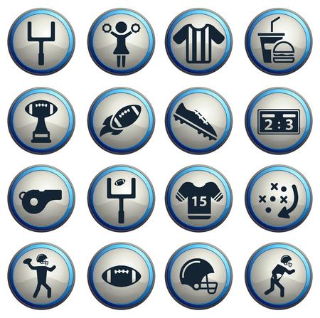porrista: F�tbol americano simples iconos vectoriales