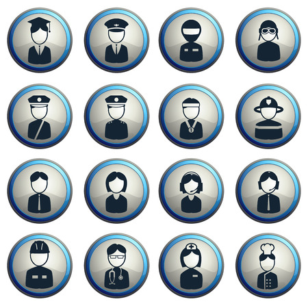 ocupation: Ocupation simply  symbols for web icons