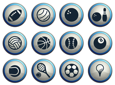 player: Sport balls simply symbol for web icons Illustration