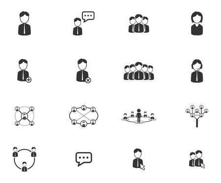 Community simply symbols for web icons