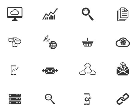 communications tower: Data analytic simply symbols for web icons