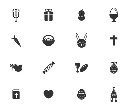 boiled: Easter day simply symbols for web icons