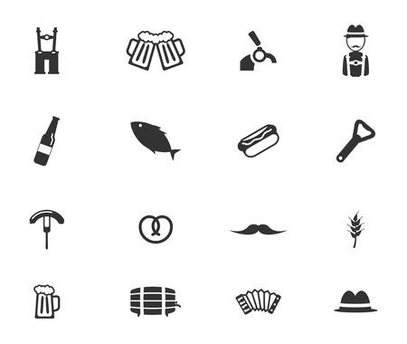 suspenders: Oktoberfest simply symbols for web icons Illustration
