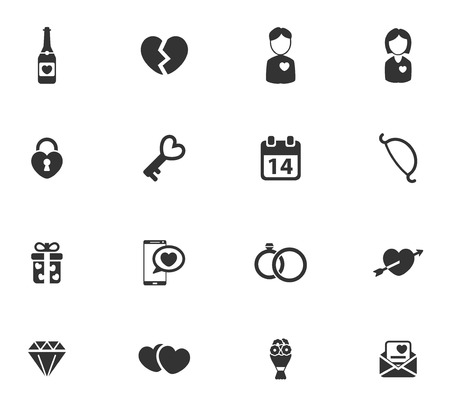 human heart: Valentines day simply symbols for web icons