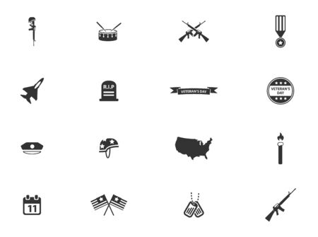 day: Veterans Day simply symbols for web icons