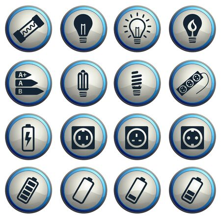 economical: Electricity simply vector icon set