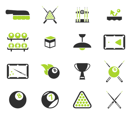 pool cues: Billiards simply symbols for web icons Illustration
