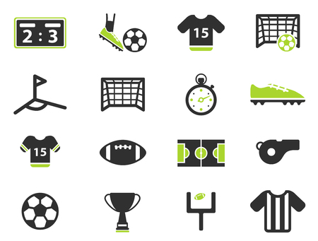 soccer field: Football simply vector icon set