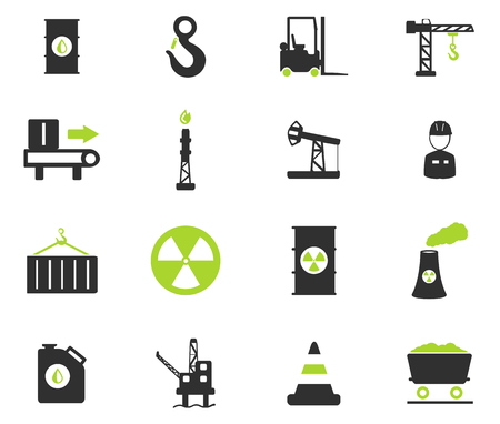 jumpsuit: Industrial simply vector icon set