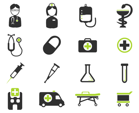 trolley case: Medical simply vector icon set