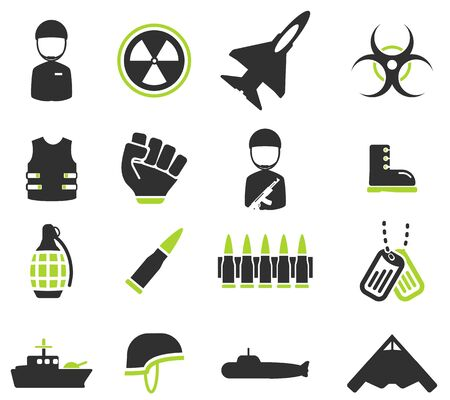 biological hazards: Military simply vector icon set