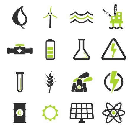 turbina: La generación de energía simplemente icono de conjunto de vectores