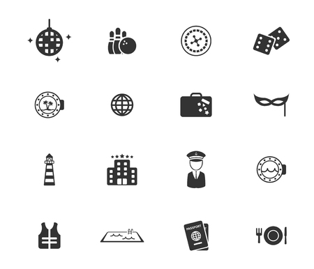 lifejacket: Cruise simply symbols for web icons