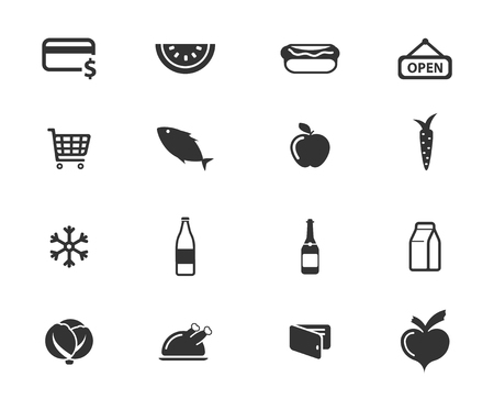 caja de leche: Abarrotes simplemente s�mbolos de iconos de la web