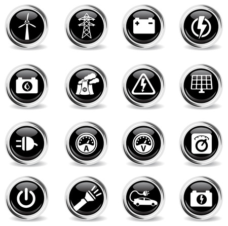 ammeter: Electricity simply symbols for web icons