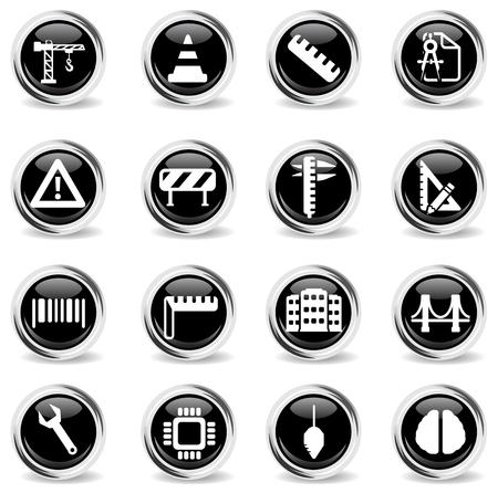 calliper: Engineering simply symbol for web icons Illustration