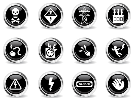 High voltage simply symbol for web icons