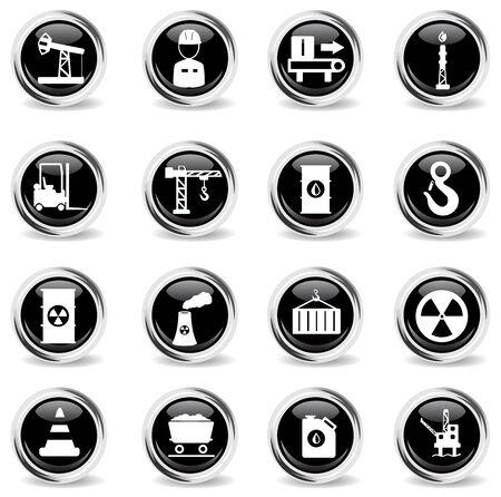 Industrial simply vector icon set