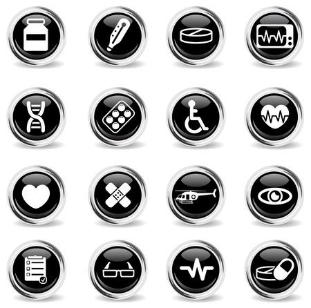 cardiograph: Medical simply vector icon set