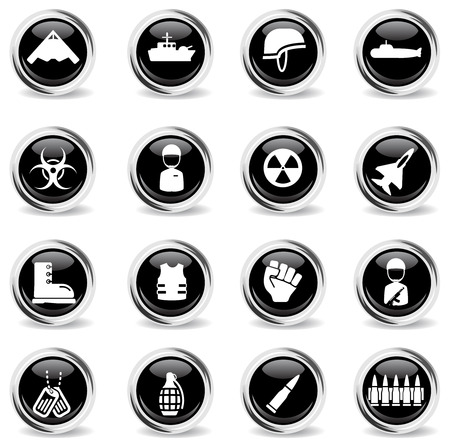 warfare: Military simply vector icon set