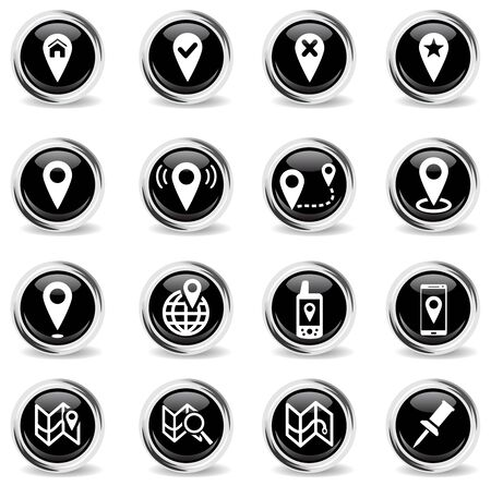 rejection: Pointer and maps simply vector icon set