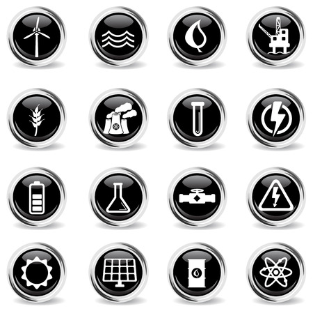 power icon: Power generation simply vector icon set