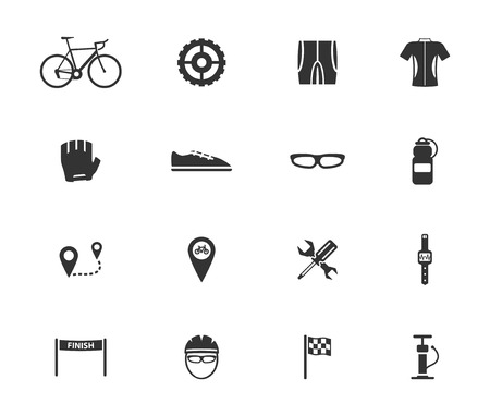 handlebar: Bycicle simple icons for web